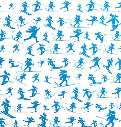 winter extreme sport pattern vector image