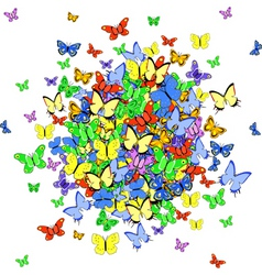 butterfly ball vector image vector image