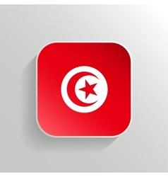 Button - tunisia flag icon vector