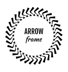 circle frames or borders made of arrows symbols vector image vector image