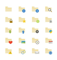 Folder Flat Icons color vector image