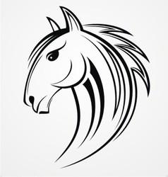 Horse Head Tribal vector image