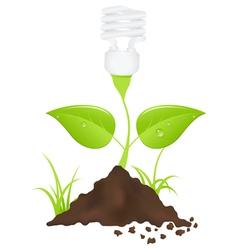 light bulb energy vector image