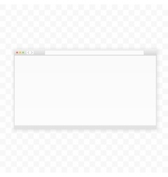 Opened 16x9 browser window template Ready for vector image
