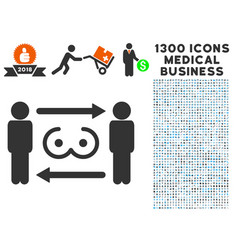 swingers exchange icon with 1300 medical business vector image vector image