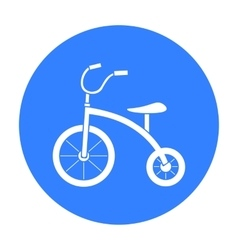 Tricycle icon in black style isolated on white vector image vector image