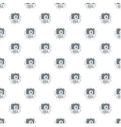 1984 photo camera pattern seamless vector image