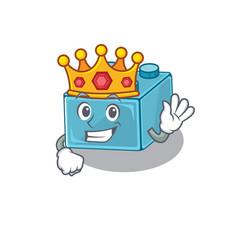 A cartoon mascot design lego brick toys vector