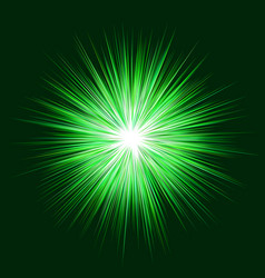 abstract green explosion design background vector image