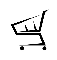 Abstract of a shopping cart on white vector image