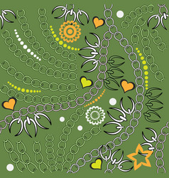 abstract ornamental decorative spring seamless vector image
