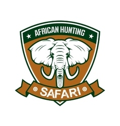 African hunting safari club sign vector