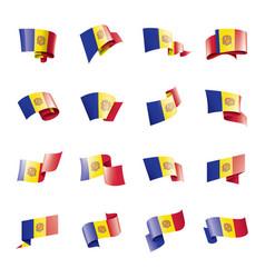 andora flag on a white vector image