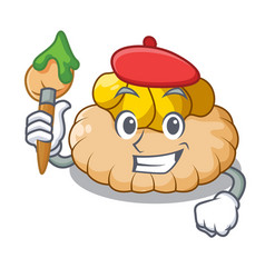 artist vanilla ice cream biscuit on cartoon vector image