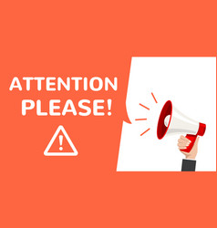 attention megaphone information vector image