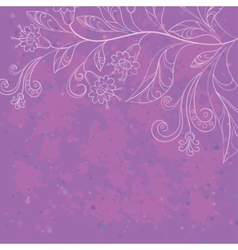 Background with contours flowers vector