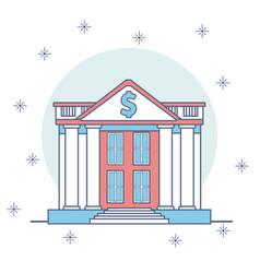 bank buildings cartoon vector image