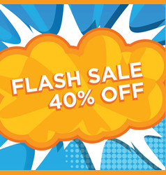 banner flash sale off vector image
