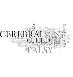 Be alert and be aware of the sign of cerebral vector