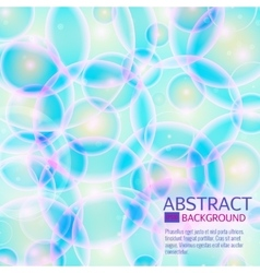 Blue cell background Life and biology medicine vector image