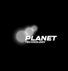 bokeh lights planets parade vector image