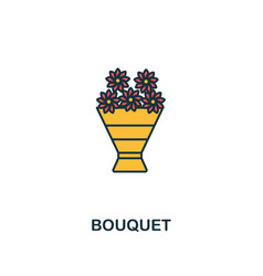 bouquet icon creative 2 colors design frombouquet vector image