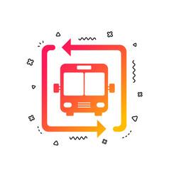 bus shuttle icon public transport stop symbol vector image