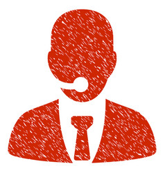 Call center manager grunge icon vector