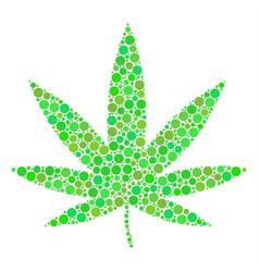 Cannabis mosaic of circles vector