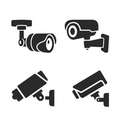 cctv icon closed circuit television camera vector image