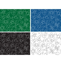 Chemistry background - seamless pattern molecule m vector