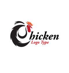 Chicken logo designs vector