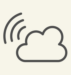 Cloud wifi line icon connection vector