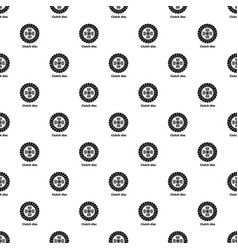 clutch disc pattern seamless vector image
