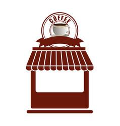 coffee shop store facade exterior vector image
