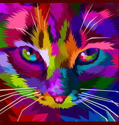 colorful cool cat eyes vector image