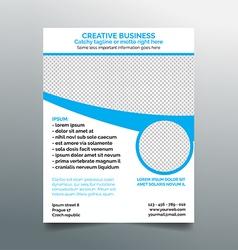 Creative business flyer design - light blue vector