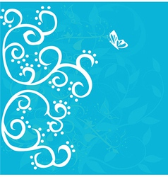 Curly floral background vector