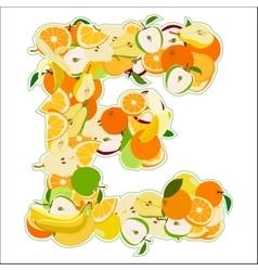 E made of fruits vector