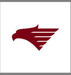 eagle head logos template vector image