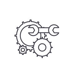 engineering support line icon concept engineering vector image