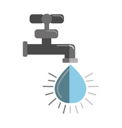 faucet with drop of water icon vector image vector image