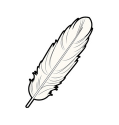 feather free spirit rustic decoration ornate vector image