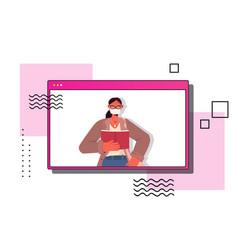 female teacher reading book labor day concept vector image