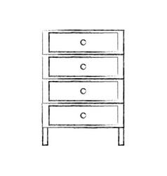 Figure cabinet archive file document with drawer vector