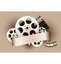 Film reel with baner vector