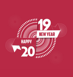 fireworks happy new year 2019 background vector image