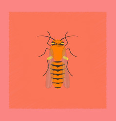 Flat shading style insect bee vector