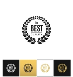 Floral wreath logo ot best design label vector image