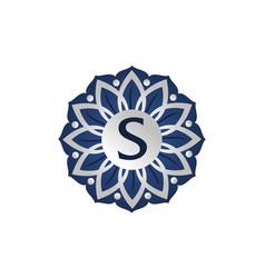 flower elegant icon initial s vector image